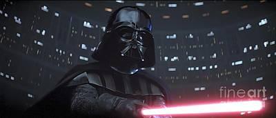 Star Wars Photograph - Darth Vader by Baltzgar