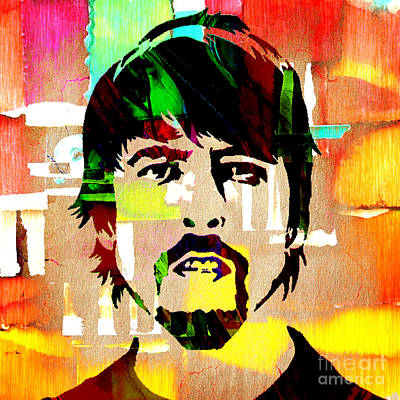 Portraits Mixed Media - Dave Grohl Foo Fighters by Marvin Blaine