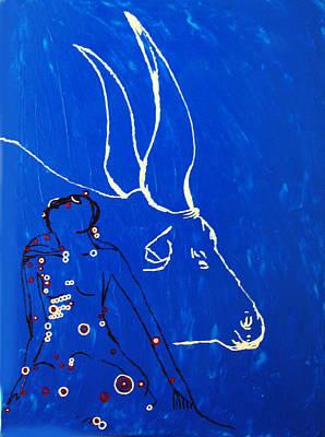 Dinka Painting - Dinka Livelihood - South Sudan by Gloria Ssali