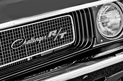 Dodge Challenger Rt Grille Emblem Print by Jill Reger