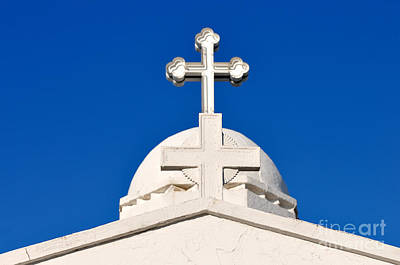 Crosses Photograph - Dome Of Agios Georgios Chapel by George Atsametakis