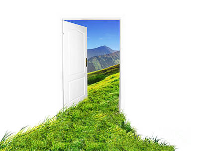 Unreal Photograph - Door To New World by Michal Bednarek