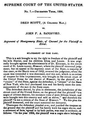 Dred Scott (1795?-1858) Print by Granger