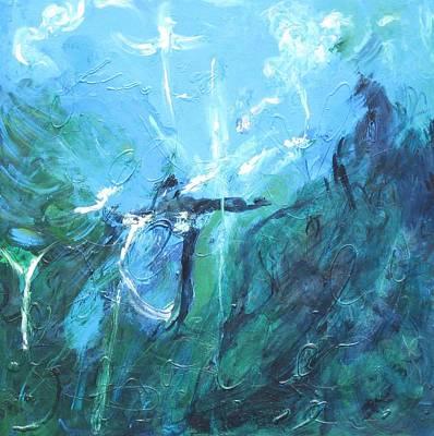 Ed Among The Angels Print by Lawrence  Dugan