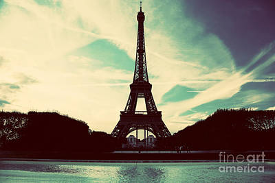 Cityscape Photograph - Eiffel Tower In Paris Fance In Retro Style by Michal Bednarek