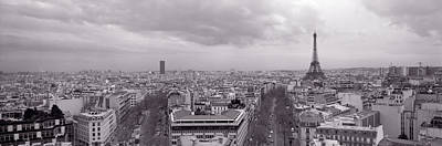 Rooftop Photograph - Eiffel Tower, Paris, France by Panoramic Images