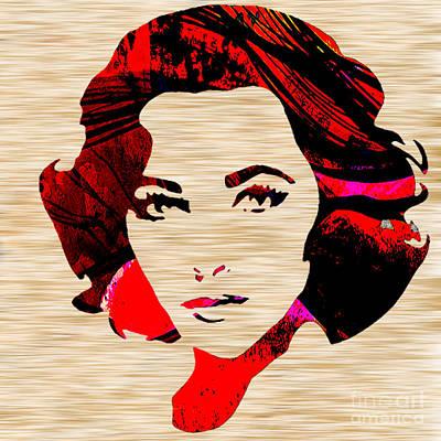 Elizabeth Mixed Media - Elizabethtaylor by Marvin Blaine