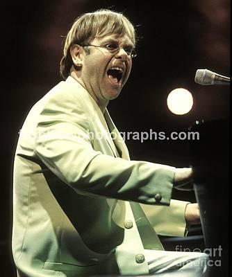 Elton John Print by Front Row  Photographs