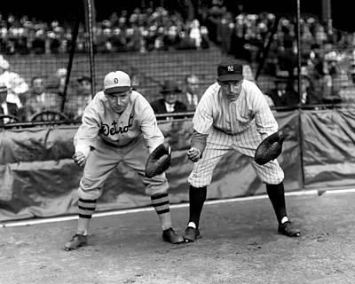 Detroit Tigers Photograph - Eugene F. Bubbles Hargrave by Retro Images Archive