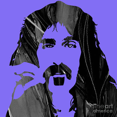 Frank Zappa Collection Print by Marvin Blaine