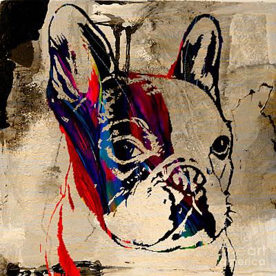 Bulldog Mixed Media - French Bulldog by Marvin Blaine
