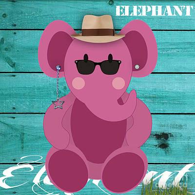 Friendly Elephant Art Print by Marvin Blaine