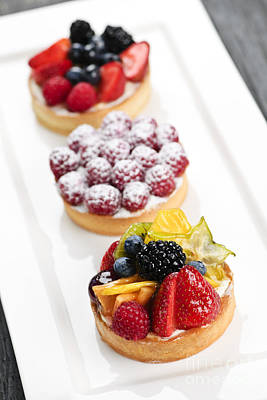 Fruit Photograph - Fruit Tarts by Elena Elisseeva