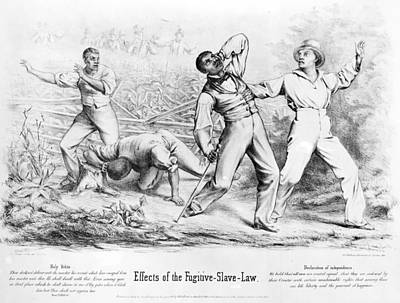 Abolition Painting - Fugitive Slave Act, 1850 by Granger