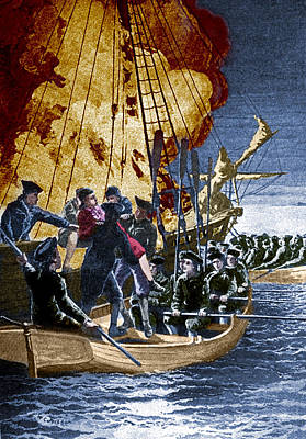 Colonial Man Photograph - Gaspee Affair, 1772 by Science Source