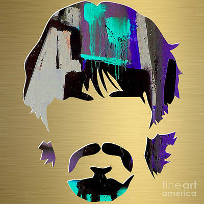 George Mixed Media - George Harrison Gold Series. by Marvin Blaine