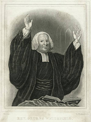 Sermon Painting - George Whitefield (1714-1770) by Granger