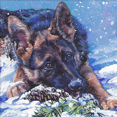 German Shepherd Print by Lee Ann Shepard