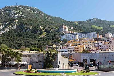 Gibraltar.  Moorish Castle Print by Ken Welsh