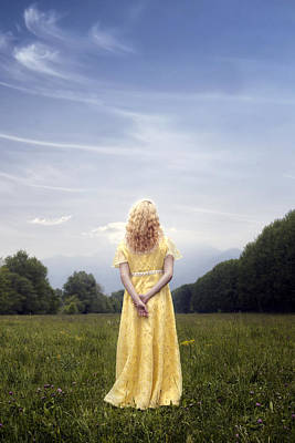 Girl On Meadow Print by Joana Kruse