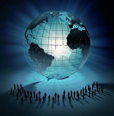Business-travel Photograph - Global Community by Andrzej Wojcicki