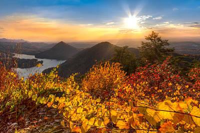 Smokey Sky Photograph - Golden Hour by Debra and Dave Vanderlaan