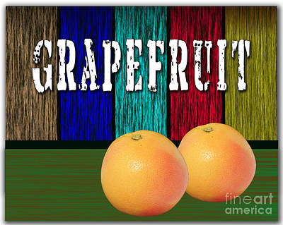 Grapefruit Print by Marvin Blaine