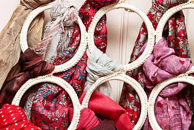 Muffler Photograph - Hanging Scarfs by Tom Gowanlock