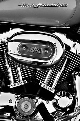 Classic Cycle Photograph - Harley Davidson Sportster 1200 by David Patterson