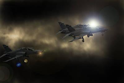 Hawk Mk 120 Photograph - 3 Hawks by Paul Job
