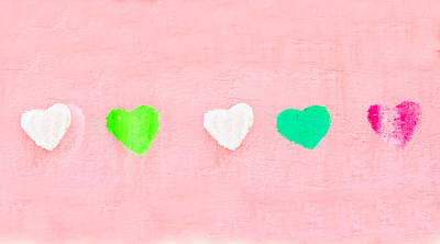 Lime Green Photograph - Hearts by Tom Gowanlock