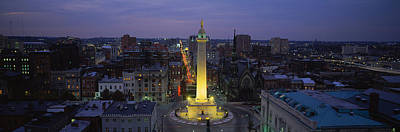 Urban Scenes Photograph - High Angle View Of A Monument by Panoramic Images