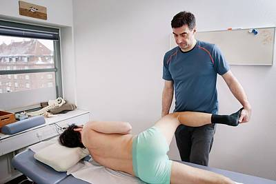 Physiotherapy Photograph - Hip Injury Physiotherapy by Thomas Fredberg