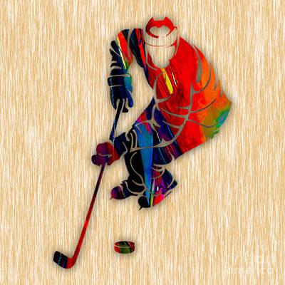 Hockey Art Mixed Media - Hockey by Marvin Blaine