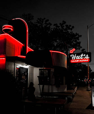 Hut's Hamburgers Print by Mountain Dreams