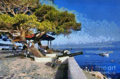 Cannon Painting - Hydra Island by George Atsametakis