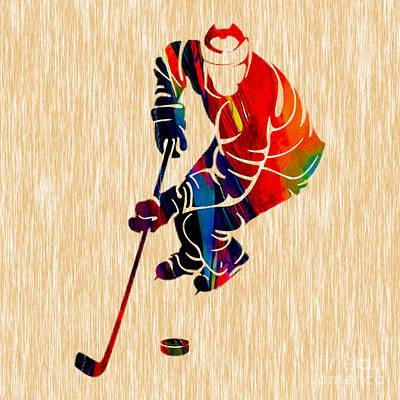 Hockey Mixed Media - Ice Hockey by Marvin Blaine