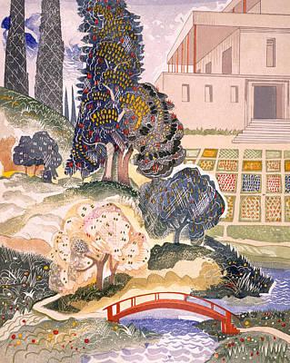 Illustration For Kim By Rudyard Kipling Print by Francois-Louis Schmied