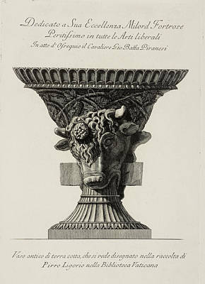 Illustration Of Classical Urn Print by British Library
