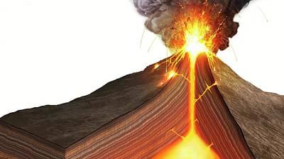 Interior Of A Stratovolcano Print by Mark Garlick