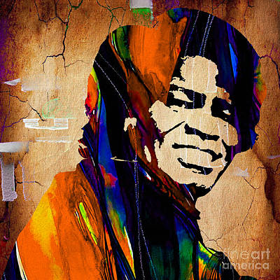 Music Mixed Media - James Brown Collection by Marvin Blaine