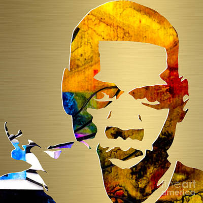 Jay Z Gold Series Print by Marvin Blaine
