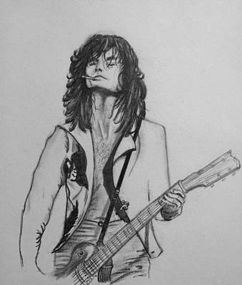 Jimmy Page Drawing - Jimmy Page by Manon Zemanek