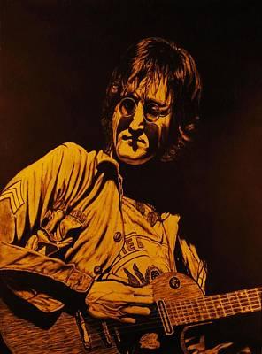 John Lennon Drawing - John Lennon 1972 by Charles Rogers