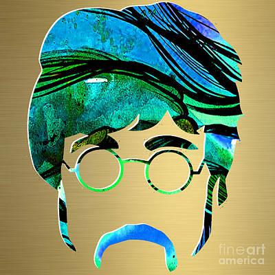John Mixed Media - John Lennon Gold Series by Marvin Blaine