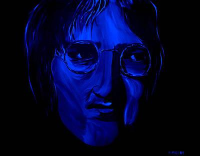 Tree Painting - John Lennon  by Mark Moore