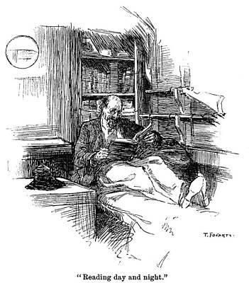 Cabin Interiors Painting - Joshua Slocum (1844-?1909) by Granger