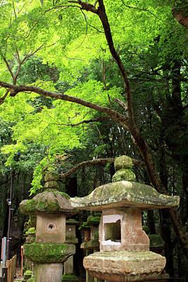 Kasuga-taisha Shrine In Nara, Japan Print by Paul Dymond