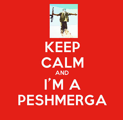 Cartography Painting - Keep Calm And I M A Peshmerga by Celestial Images