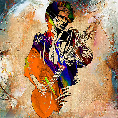 Keith Richards Collection Print by Marvin Blaine